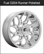 Fuel Runner D204 Polished Wheels
