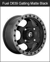 Fuel Gatling D639 Matte Black Wheels