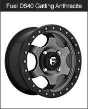 Fuel Gatling D640 Matte Anthracite Wheels