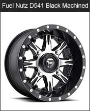 Fuel Nutz D541 Black Machined