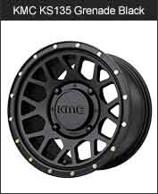KMC KS135 Grenade Black Wheels