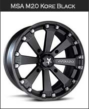 MSA M20 Kore Black Wheels