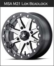 MSA M21 Lok Beadlock Wheels