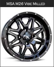 MSA M26 Vibe Milled Wheels