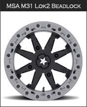 MSA M31 Lok2  Beadlock Wheels