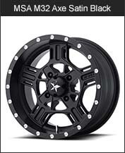 MSA M32 Axe Black Wheels