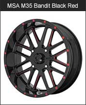 MSA M35 Bandit Black Red Tint