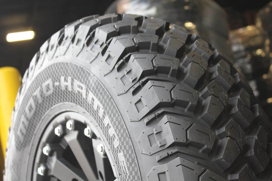 "EFX Moto Hammer features 1"" deep tread!"