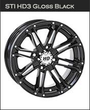 STI HD3 Gloss Black Wheels