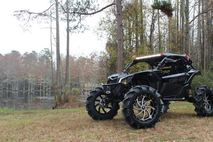 M36 Switch Gloss Black Machined Wheels on 2017 Can-Am Maverick X3